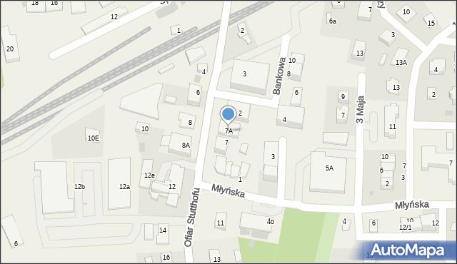 Luzino, Ofiar Stutthofu, 7A, mapa Luzino