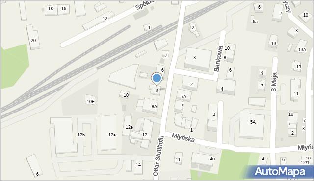 Luzino, Ofiar Stutthofu, 8, mapa Luzino