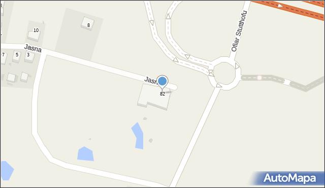 Luzino, Ofiar Stutthofu, 82, mapa Luzino