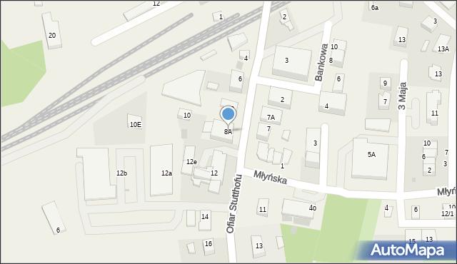 Luzino, Ofiar Stutthofu, 8A, mapa Luzino