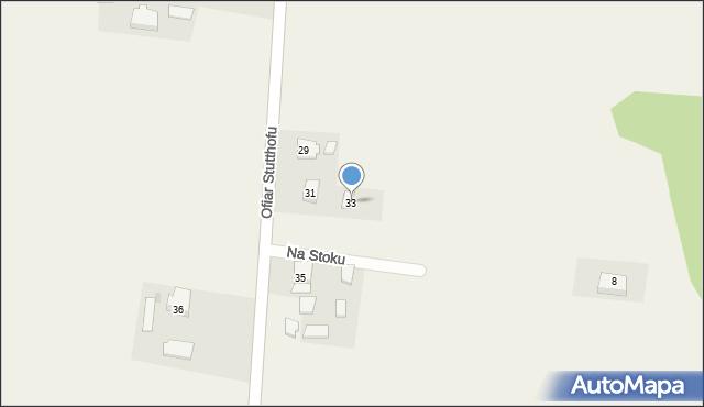 Wyszecino, Ofiar Stutthofu, 33, mapa Wyszecino