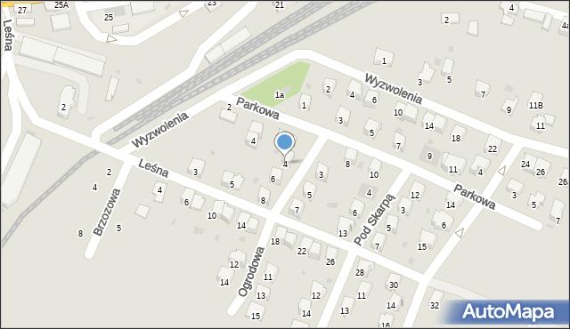 Andrychów, Ogrodowa, 4, mapa Andrychów