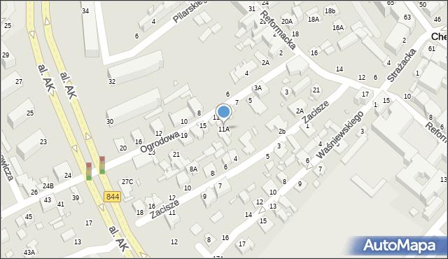 Chełm, Ogrodowa, 11A, mapa Chełma