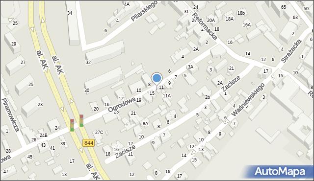 Chełm, Ogrodowa, 13, mapa Chełma