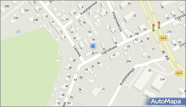 Chełm, Ogrodowa, 34, mapa Chełma