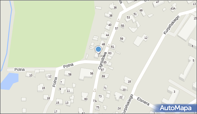 Chełm, Ogrodowa, 54, mapa Chełma