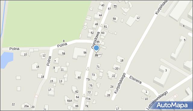 Chełm, Ogrodowa, 69, mapa Chełma