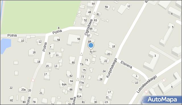 Chełm, Ogrodowa, 71, mapa Chełma
