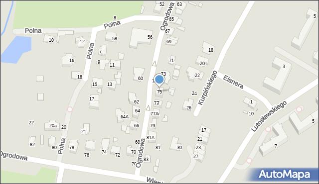 Chełm, Ogrodowa, 75, mapa Chełma