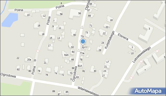 Chełm, Ogrodowa, 77, mapa Chełma