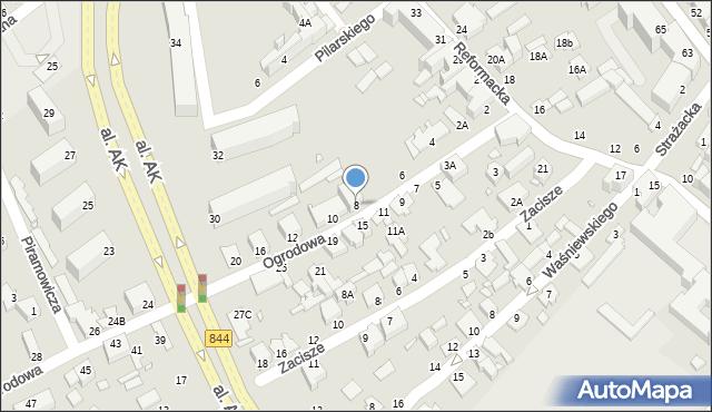 Chełm, Ogrodowa, 8, mapa Chełma