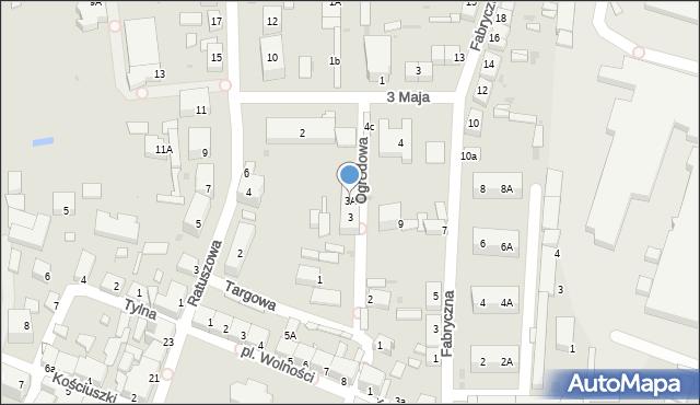 Chocianów, Ogrodowa, 3A, mapa Chocianów