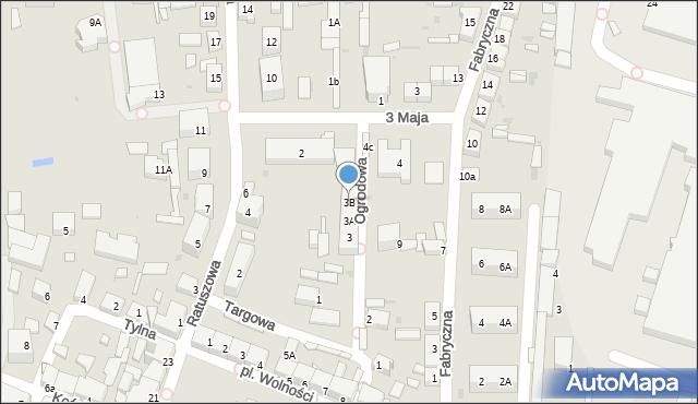 Chocianów, Ogrodowa, 3B, mapa Chocianów