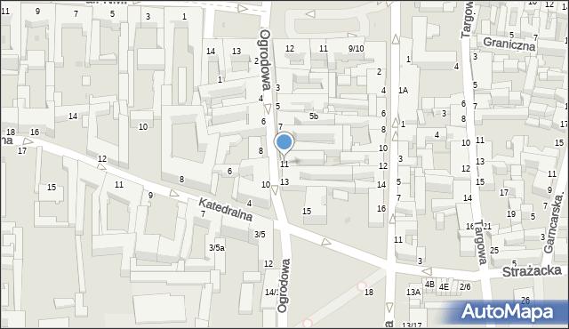 Częstochowa, Ogrodowa, 11, mapa Częstochowy