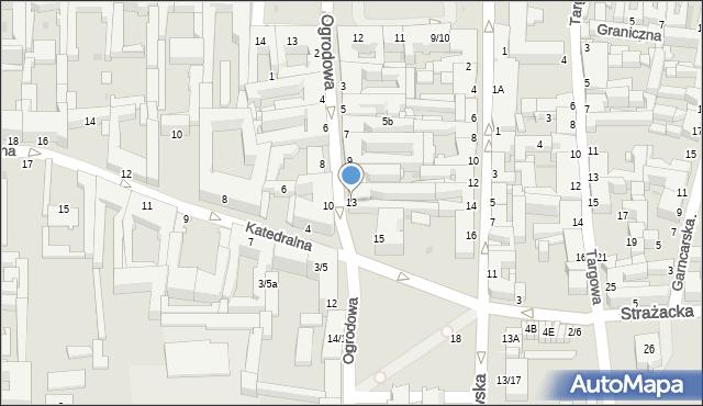 Częstochowa, Ogrodowa, 13, mapa Częstochowy