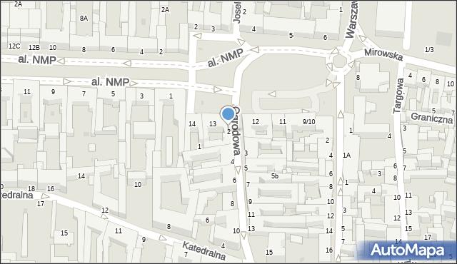 Częstochowa, Ogrodowa, 2, mapa Częstochowy