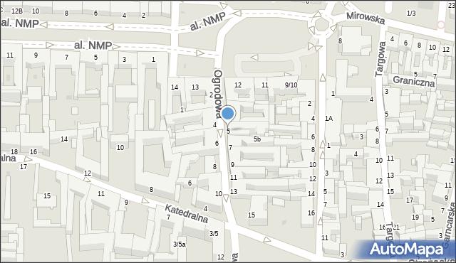 Częstochowa, Ogrodowa, 5, mapa Częstochowy