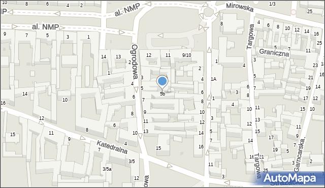 Częstochowa, Ogrodowa, 5b, mapa Częstochowy