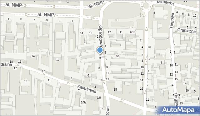 Częstochowa, Ogrodowa, 6, mapa Częstochowy