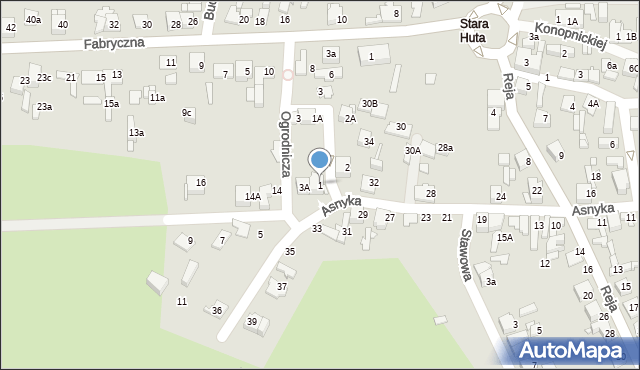 Jaworzno, Ogrodnicza, 1, mapa Jaworzno