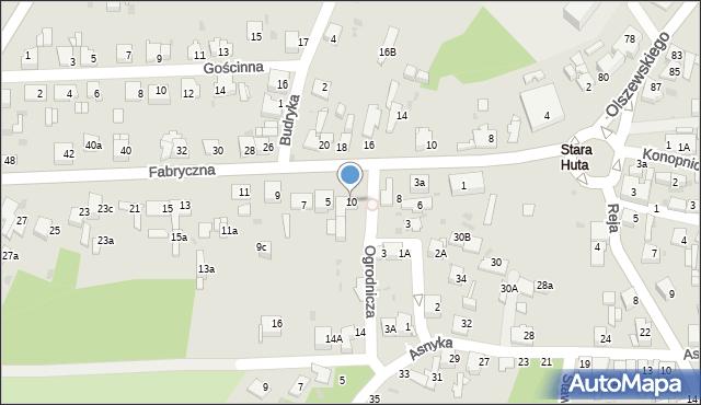 Jaworzno, Ogrodnicza, 10, mapa Jaworzno