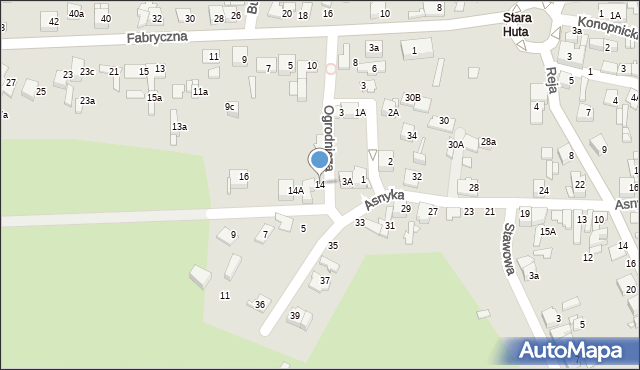 Jaworzno, Ogrodnicza, 14, mapa Jaworzno
