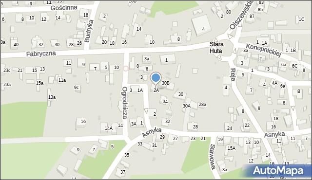 Jaworzno, Ogrodnicza, 2A, mapa Jaworzno
