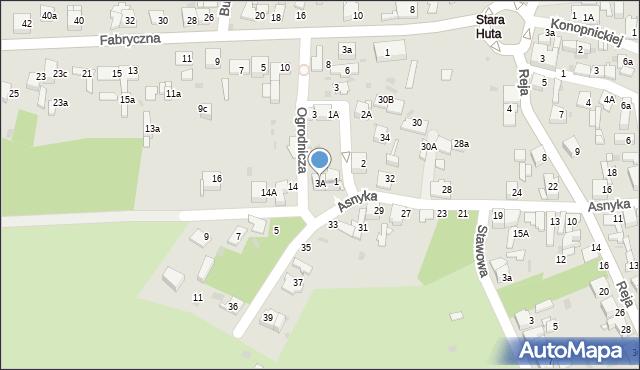 Jaworzno, Ogrodnicza, 3A, mapa Jaworzno