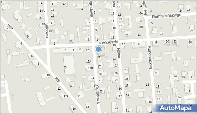 Jedwabne, Ogrodowa, 15, mapa Jedwabne