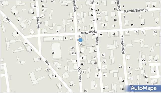 Jedwabne, Ogrodowa, 15A, mapa Jedwabne