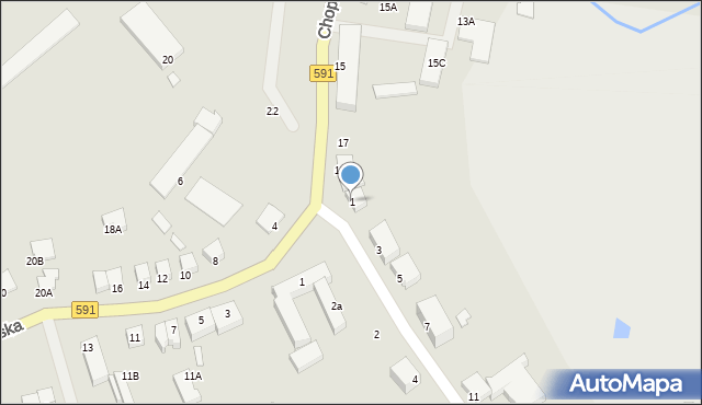 Kętrzyn, Ogrodowa, 1, mapa Kętrzyn