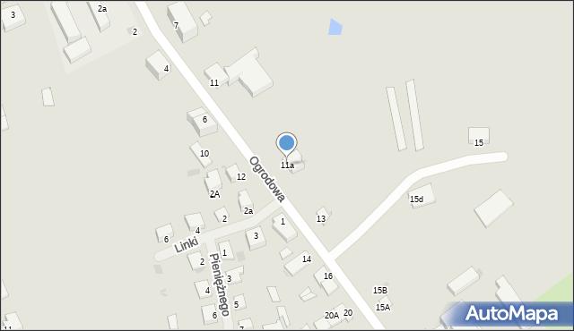Kętrzyn, Ogrodowa, 11a, mapa Kętrzyn