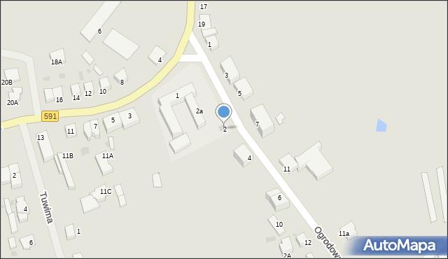 Kętrzyn, Ogrodowa, 2, mapa Kętrzyn