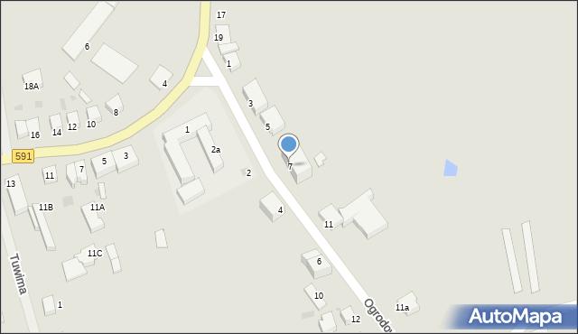 Kętrzyn, Ogrodowa, 7, mapa Kętrzyn