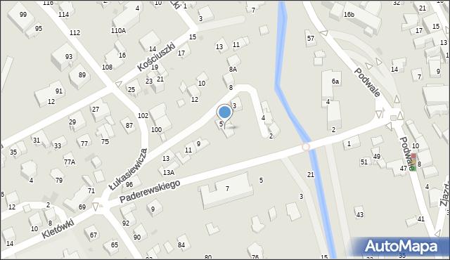 Krosno, Ogrodowa, 7, mapa Krosna