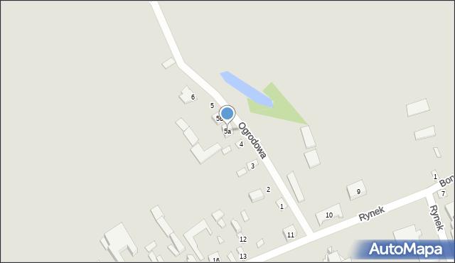 Latowicz, Ogrodowa, 5a, mapa Latowicz