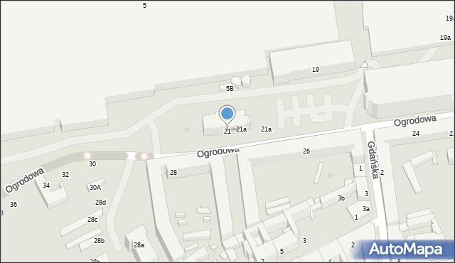 Łódź, Ogrodowa, 21, mapa Łodzi