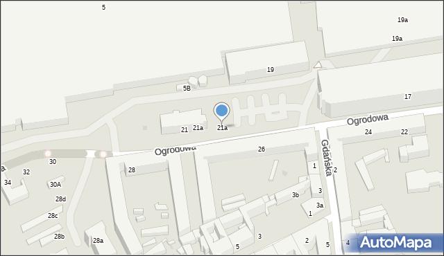 Łódź, Ogrodowa, 21a, mapa Łodzi