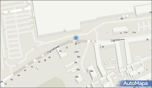 Łódź, Ogrodowa, 30, mapa Łodzi