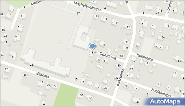 Luzino, Ogrodowa, 7, mapa Luzino
