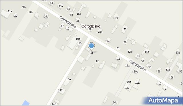 Ogrodzisko, Ogrodzisko, 13, mapa Ogrodzisko