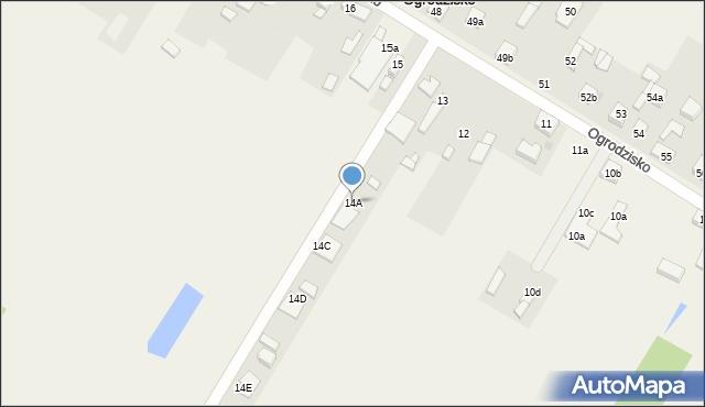 Ogrodzisko, Ogrodzisko, 14A, mapa Ogrodzisko