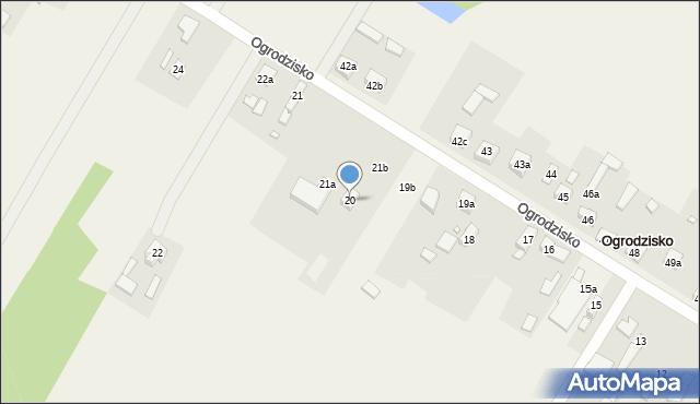 Ogrodzisko, Ogrodzisko, 20, mapa Ogrodzisko
