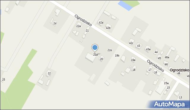 Ogrodzisko, Ogrodzisko, 21a, mapa Ogrodzisko