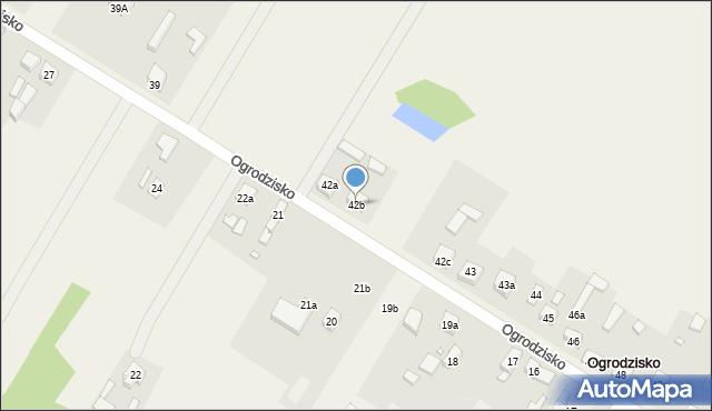 Ogrodzisko, Ogrodzisko, 42b, mapa Ogrodzisko