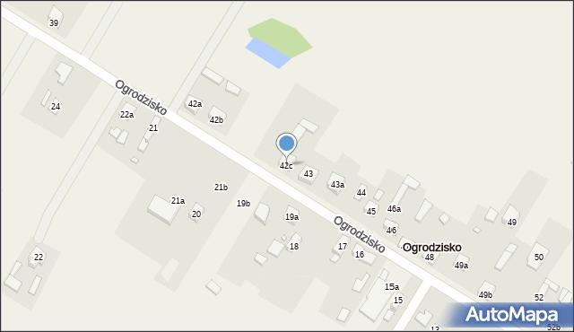 Ogrodzisko, Ogrodzisko, 42c, mapa Ogrodzisko