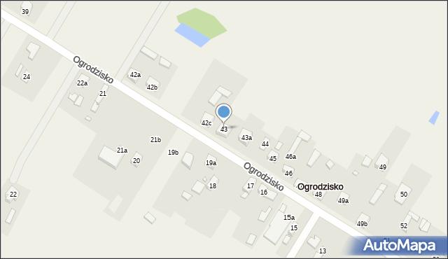 Ogrodzisko, Ogrodzisko, 43, mapa Ogrodzisko