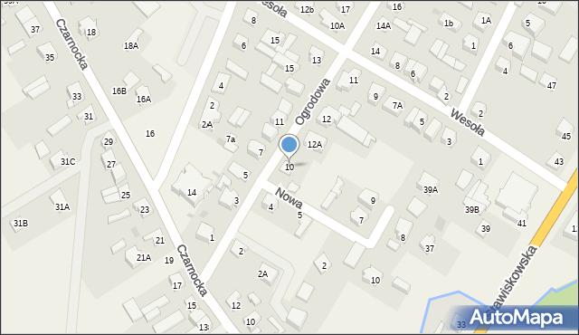 Piątnica Poduchowna, Ogrodowa, 10, mapa Piątnica Poduchowna