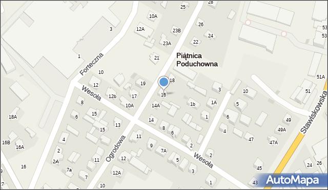Piątnica Poduchowna, Ogrodowa, 16, mapa Piątnica Poduchowna