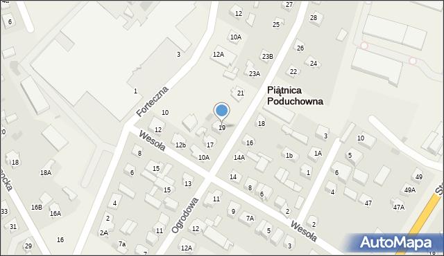 Piątnica Poduchowna, Ogrodowa, 19, mapa Piątnica Poduchowna
